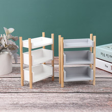 1 PC 1:12 Scale Doll House Furniture Simulation bookshelf flower shelf storage rack Dollhouse Miniature Accessories(China)