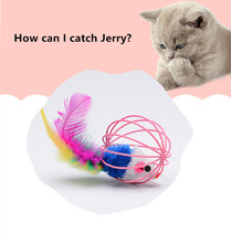 Funny Caged Mouse Pet Toy Rat Ball for Cat Dog Pet Novelty Toy Pet Supplies Interactive Cat Toy Mouse Toy red legged mouse pet cat toy multicolored