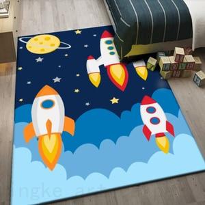 3d dywan cartoon sypialnia dzieci mata do zabawy miękka flanelowa z pianki memory duża powierzchnia dywaniki dywan do salonu Home Decor