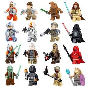 Action-Model-Toys Figure Building-Blocks Collections Darth Vader Skywalker Kids Star-Wars