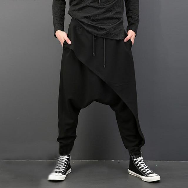 Drape Drop Crotch Baggy Dancing Pants 6