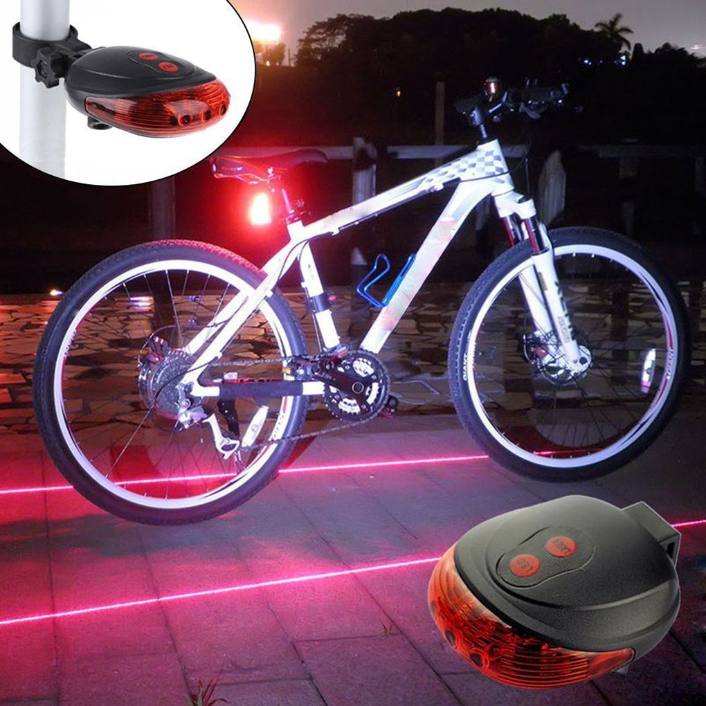 Ultra Bright Bike Tail Light Bicycle High Intensity 5 LEDs Warning Accessories For Mountain Bike