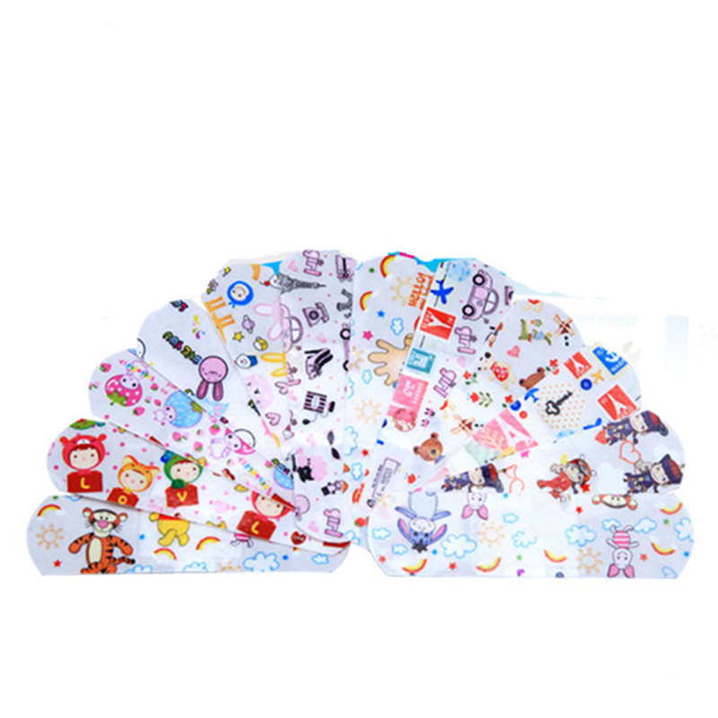 100PC Waterproof Breathable Cute Cartoon Band Aid Medical Hemostasis Adhesive Bandages First Aid Emergency Kit For Kids Children