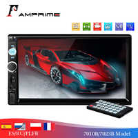 "AMPrime 2 Din Car Radio 7"" Touch Screen Car Audio Stereo Video Multimedia MP5 Player FM/USB/AUX/Bluetooth Camera 7010B Universal"