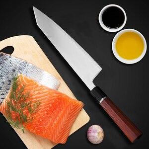 Image 3 - Cuchillo de cocina japonés con mango octagonal, HAP40, Kiritsuke Sashimi, Sushi, Gyuto