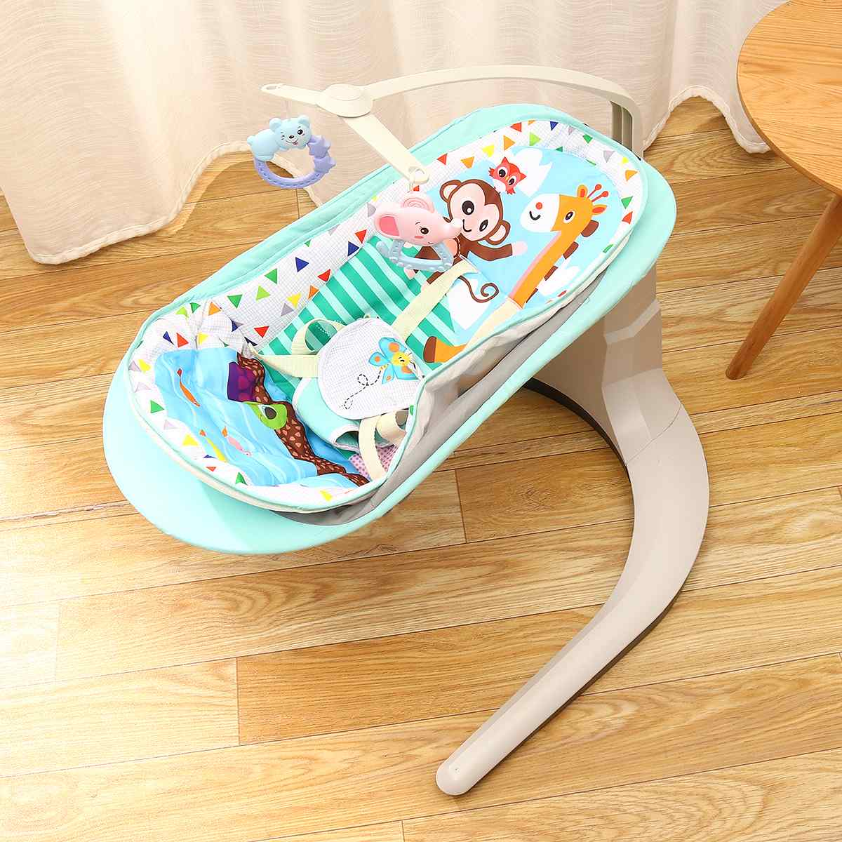 Hd4c53e3ccc0e475b8035ab28dbe632f0A 2 in 1 Newborn Gift Multi-function Music Electric Swing Chair Infant Baby Rocking Chair Comfort BB Cradle Baby Rocker Swing 0-3