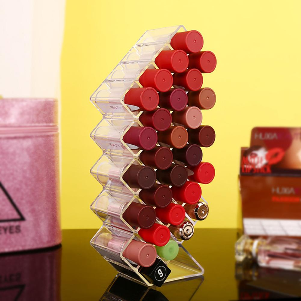 Acrylic 28-grid Vertical Lipstick Storage Box Fish Shape Transparent Acrylic Lipstick Lip Glaze Storage Stand Holder