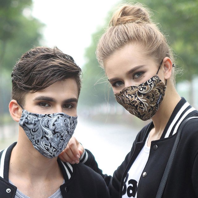 1Pcs Kpop Cotton Black Mask Mouth Face Mask Anti PM2.5 Dust Mask with 2pcs Activated Carbon Filter korean Mask Fabric Face Mask 1