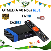 Orijinal brezilya stok GTMEDIA uydu alıcısı V8 NOVA mavi H.265 DVB-S2 dijital kutu dahili wifi alıcısı uydu Youtube