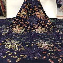 Горячая Распродажа французская блестящая кружевная ткань высокого качества красивая африканская кружевная ткань для нигерийской кружевной свадьбы платье