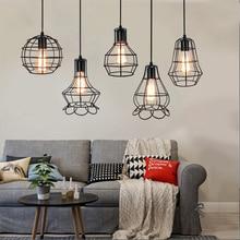 Soporte de lámpara E27 nórdico Retro desván luces colgantes de hierro 110V 220V 240V E27 Base de luz de techo plafondlámpara para sala de estar pasillo