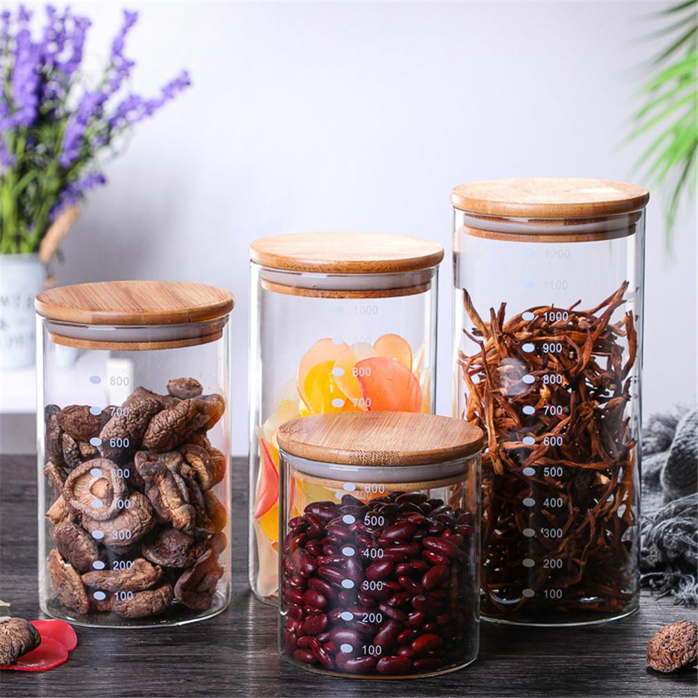 Creative Kitchen Storage Bottles For Bulk Products Jars With Lid Spices Sugar Tea Coffee Glass Container Receive Organizer Cans|Storage Bottles & Jars| |  - title=