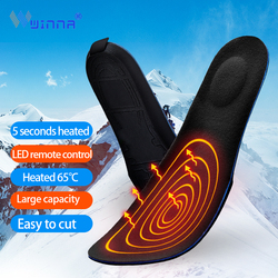 3D Healthy Heated Insoles with Orthopedic Arch Supports Winter Outdoor Sport Thermal Heating Shoe Pads Heat 65 Celsius 2000mah