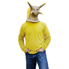 Animal Latex Masks Snail Banana Slug Full Face Mask Adult Halloween Carnival Cosplay Props Men Male(China)
