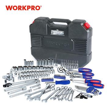 WORKPRO Car Repair Tool Set Mechanic Tool Kits Screwdrivers Ratchet Spanner Wrenches Sockets workpro 123pc tool set hand tools for car repair ratchet spanner wrench socket set professional car repair tool kits