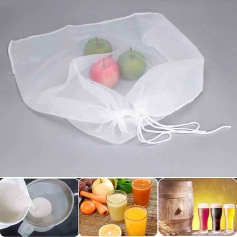 100-300Mesh Nylon Homebrew Filter Bag Hops Home Brew Beer Wine Making Supplies
