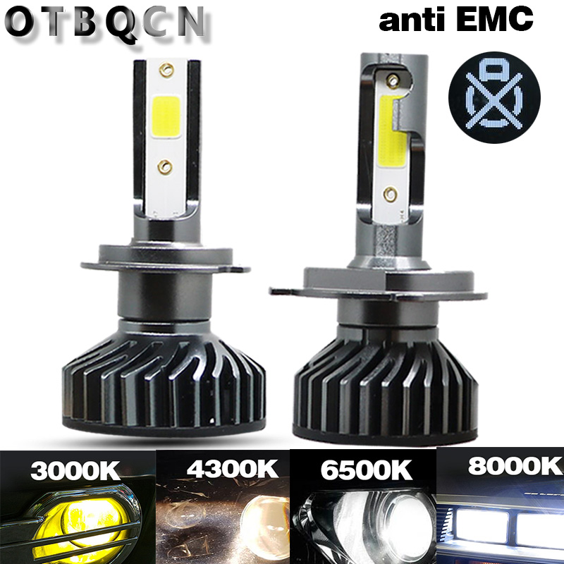 OTBQCN Canbus Car Headlight H4 H7 LED 8000K 6500K 4300K 3000K H1 H11 H8  9005 9006 H3 LED Bulb Headlamp Mini Auto Fog Lights 12V
