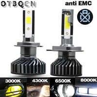 OTBQCN Canbus Car Headlight H4 H7 LED 8000K 6500K 4300K 3000K H1 H11 H8 9005 9006 H3 LED Bulb Headlamp Mini Auto Fog Lights 12V