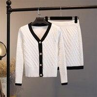 Women Sweater Sets Elegant G Style Cardigan Mini Skirt Sets Two Piece Knitted Track Suits Elegant Matching Sets 2 Pcs Sweatsuits