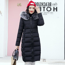цены KMVEXO Women Coat Long Lady Winter Thicken Parkas Jackets Fur Collar Thick Hood Full Outerwear 2019 Warm Casaco Feminina Inverno