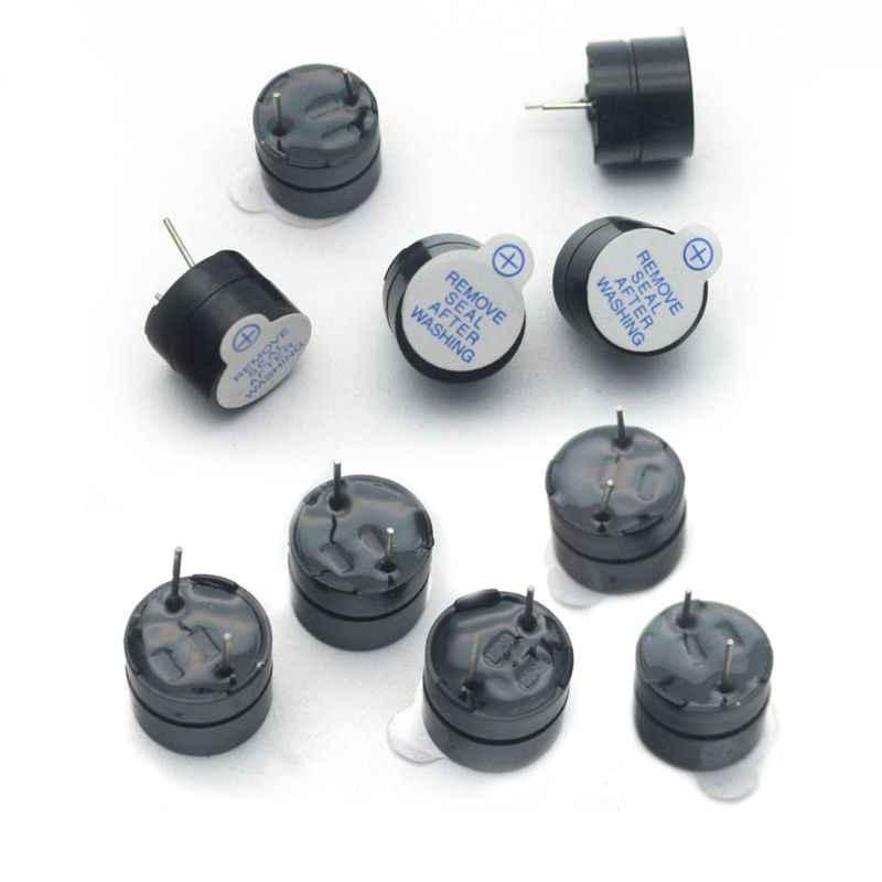 5PCS 5V Active Buzzer Magnetic Long Continous Beep Tone Alarm Ringer 12MM  QY