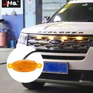 Image 1 - JHO Car Smoke przedni grill LED Light Raptor stylowa lampa dla Ford Explorer 2016 2019 2018 2017 Limited Sport Platinum akcesoria