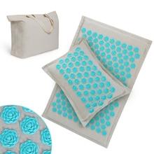 Skipe коврик акупрессура коврик, массажный коврик и подушка набор коврик для йоги снимает боль в спине, шее и шиатике, расслабляет мышцы, снимает