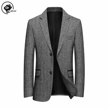 цена Little Raindrop Suit Jacket Brand  Mens Winter Blazer Male Suit Single Breasted Mature Man Wool Business Blazer For Men онлайн в 2017 году