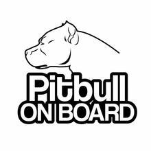 Смешные 3d наклейки pitbull на доске Аксессуары для автомобилей
