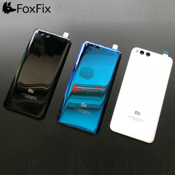NEW For Xiaomi Mi 6 Battery Cover Back Glass Mi6 Rear Door Housing Case Back Panel For Xiaomi Mi 6 Battery Cover With Adhesive