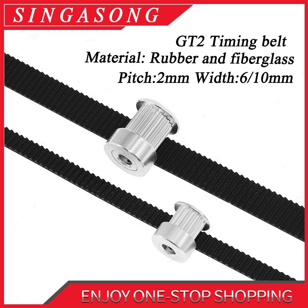 10 x GT2 Timing Pulley 16T 5mm B /& 10m White PU Belt for RepRap Prusa 3D Printer