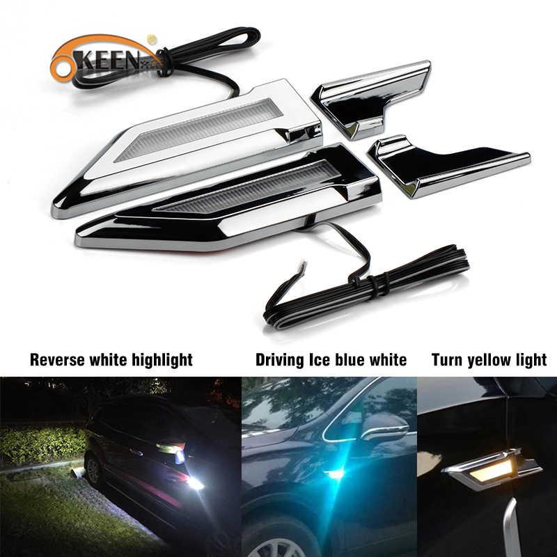 Универсальный переключаемый светодиодный фонарь боковые габаритные огни поворотник DRL Обратный парковочный свет авто Подфарники для BMW VW Ford