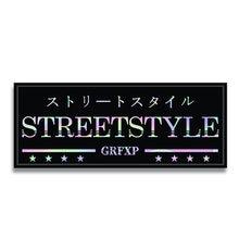 13cm x 5cm personality car sticker street style iridescent accessories