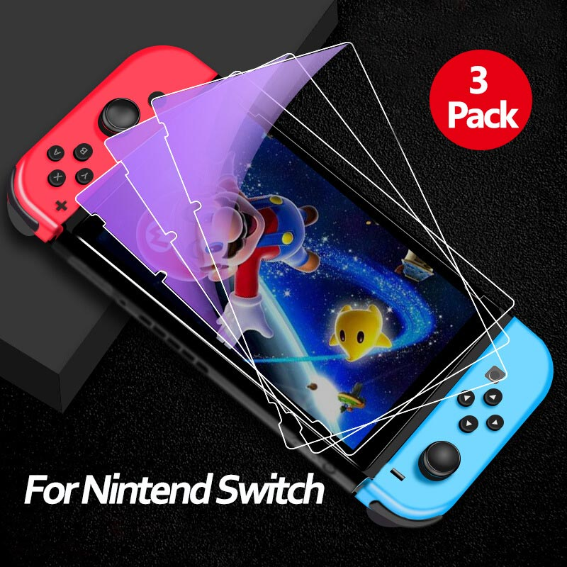 [3-Pack] For Nintend Switch Screen Protector Anti Blue Light Tempered Glass For Nintendos Switch NS Accessories Screen Protectio