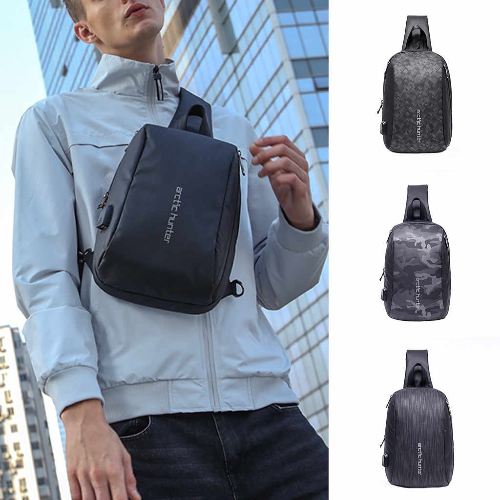 Crossbody Bags for Men Messenger Chest Bag Pack Casual Bag Oxford Large Capacity Single Shoulder Strap Pack 2019 New Fashion