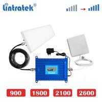 Lintratek 4G LTE 1800MHz 2600mhz 3G 2100mhz GSM 900 2g 70dB cellphone Signal Booster 4G Internet Cellular Amplifier Repeater dj