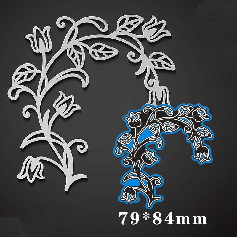 79*84mm Flower Branch Metal Cutting Dies For Card DIY Scrapbooking Stencil Paper Craft Album Template Dies