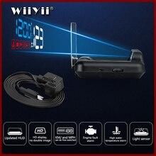 Автомобильный проектор на лобовое стекло GEYIREN, дисплей на лобовое стекло, OBD2, GPS, HUD, скоростной проектор, сигнализация безопасности, температура воды, превышение скорости, оборот в минуту, напряжение