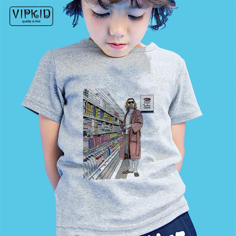 Little Boy And Girl The Big Lebowski T-shirts Kid Summer Cartoon Funny T Shirt Children Harajuku Top Baby Clothes