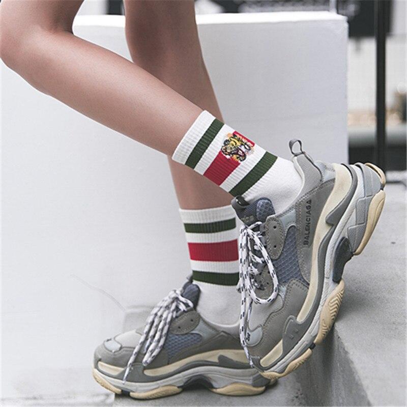 1 Pair Women Socks Spring Casual Long Socks Girls Cotton Women Fashion Cute Socks Lady