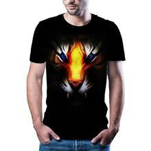 2020 gorąca sprzedaż zwierząt 3D T-shirt z nadrukiem casual street style mężczyźni i kobiety T-shirt drukowanie 3D mężczyzn i kobiet T-shirt tanie tanio Krótki CN (pochodzenie) O-neck tops Tees Routine Suknem Poliester Na co dzień Drukuj
