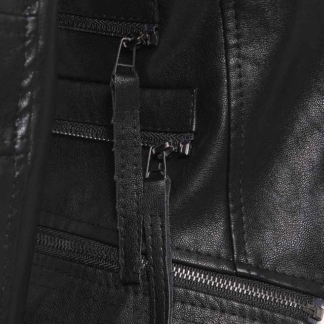 Gothic Faux Leather PU Jacket Women Winter Autumn Fashion Motorcycle Jacket Black Faux Leather Coats Outerwear Female Slim Coat
