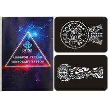 OPHIR 149 Patterns/Set Temporary Henna Tattoo Stencil Reusable Airbrush Template for Body Painting Art STE107