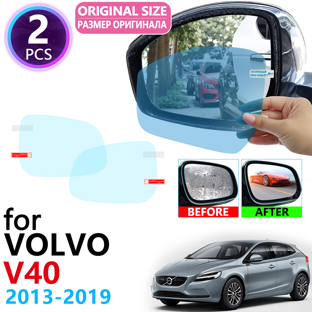 for <font><b>VOLVO</b></font> <font><b>V40</b></font> V40CC CC Cross Country R Design 2013~2019 Full Cover Rearview Mirror Rainproof Anti Fog Film Accessories 2016 2017 image
