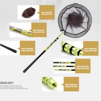 Newly Fishing Net Fish Landing Net Foldable Collapsible Telescopic Pole Handle Durable Mesh BFE88