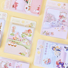 100pcs Cute Paper Memo Pad Kawaii Stationery Sticky Notes Decoration Planner Sticker Student School Supplies