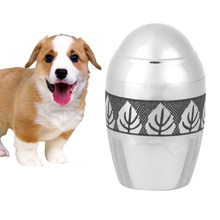 Pet Stainless Steel Cinerary Funerary Urn Jar Leaves Printed Urn Container with Opening Screw Lids (Silver)