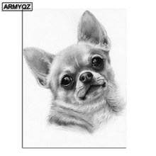 Full Square/Round Drill 5D DIY Diamond Painting Chihuahua dog pet photo 3D Embroidery Beads Cross Stitch Mosaic Rhinestone(China)