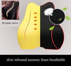 Image 3 - Car Pillow Seat Cushion Back Support Pillow Lumbar Cushion for Car Travel Neck Support Auto Headrest Pillow