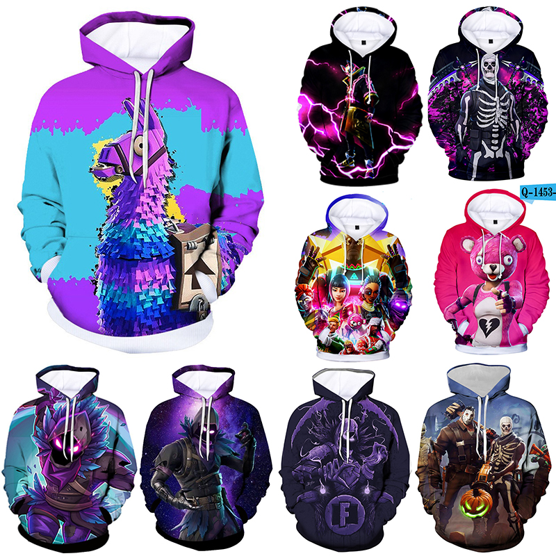 Children 100cm - 150cm 2019 Anime Gaming Unisex Streetwear Hoodies Hip Hop Sweatshirt Men And Women Hoodie Harajuku Tops